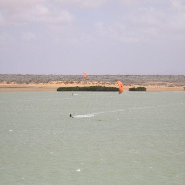 Kitesurf en Punta Gallinas, Colombia