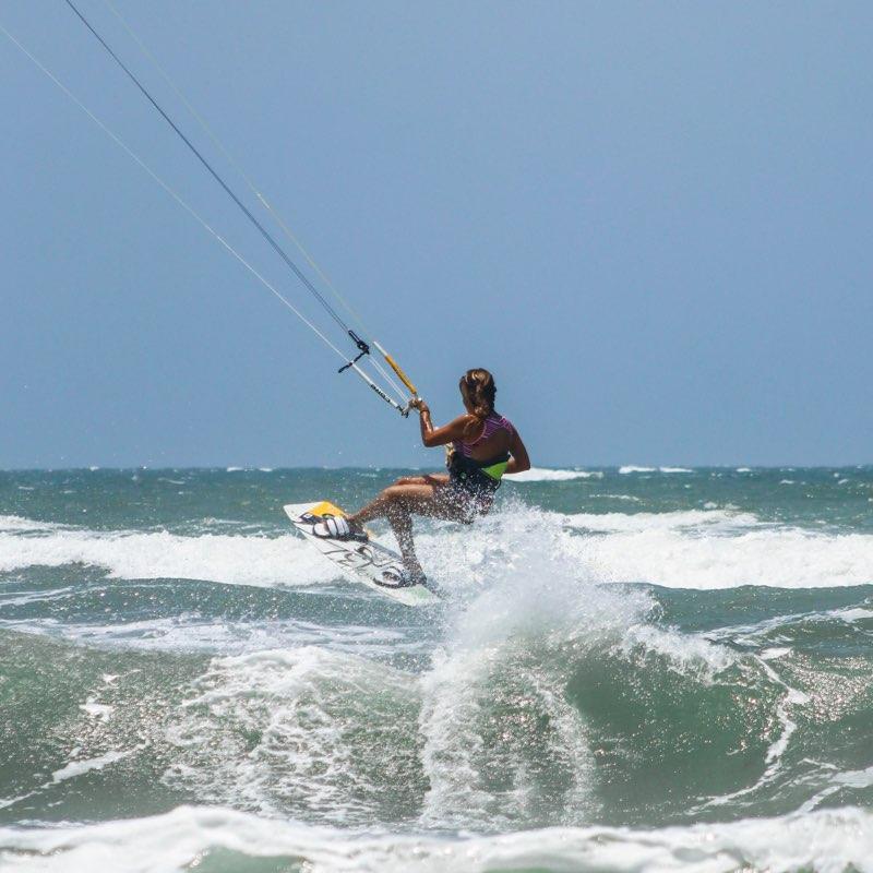 Kitesurf en Salinas del Rey, Colombia